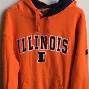 University of Illinois Men's Hoodie Size L